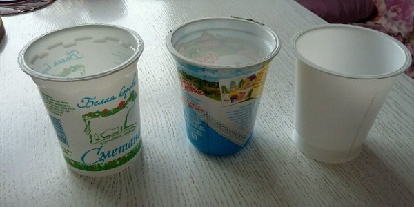 Пластиковые стаканы для рассады